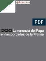 La renuncia del Papa en las portadas de la Prensa