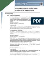 Especificaciones Tecnicas Modulos (Aulas Ss.hh. Administracion) Okkkkkk