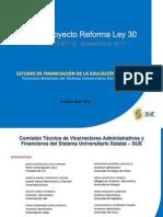 Proyecto de Reforma Ley 30 Comision Sue