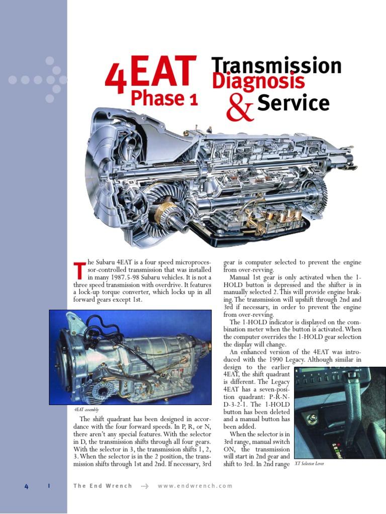 4eat phase 1 diagnosis and service 4eatph1win04 manual rh scribd com 4EAT Rebuild Kit 91 Bronco 4EAT