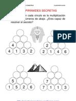 Las Piramides Secretas 4 y 5 Alturas Multipllicacion Fichas 1 20