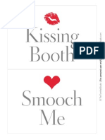 Kissing Booth Signs - The TomKat Studio