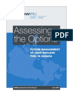 Future Management of Used Nuclear Fuel in Canada
