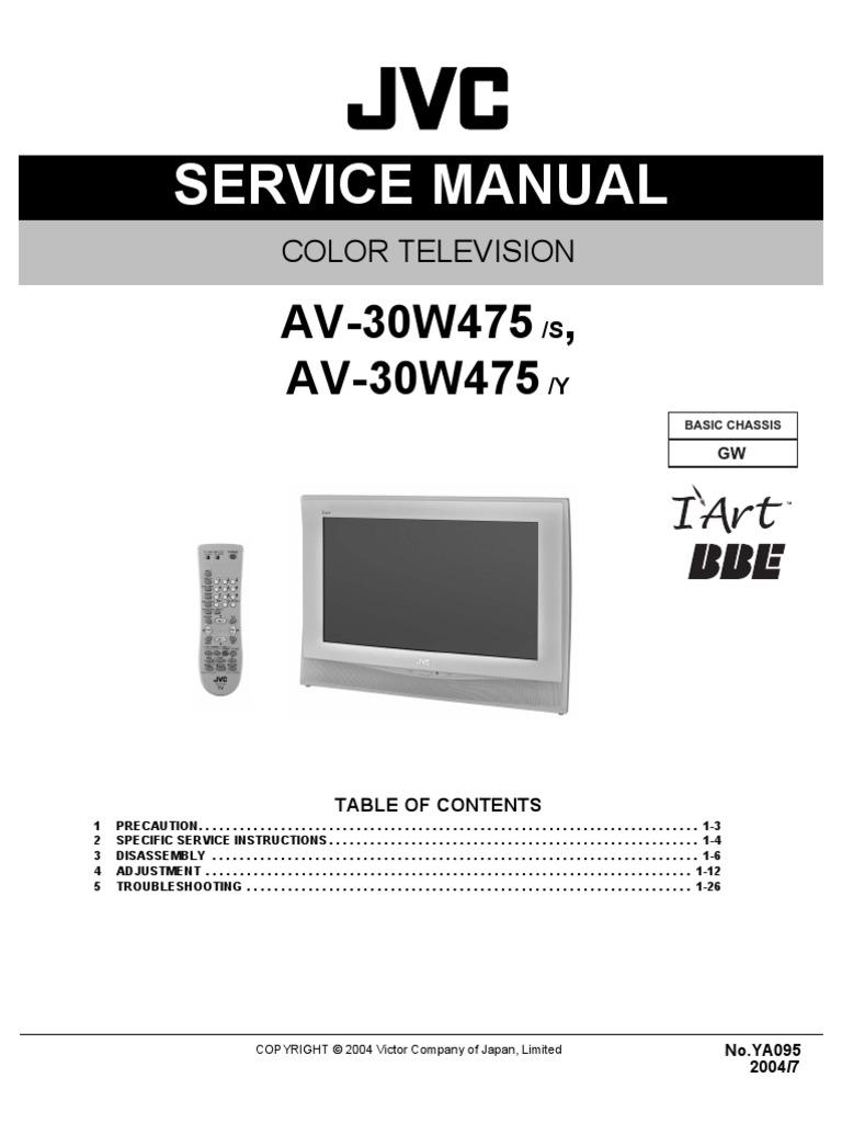 av30w475 service manual alternating current cathode ray tube