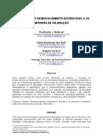 Artigo_A EVOLUÇÃO DO DESENVOLVIMENTO SUSTENTÁVEL E OS MÉTODOS DE VALORAÇÃO