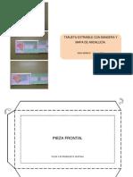 Manualidad bandera y mapa extraibles de Andalucía