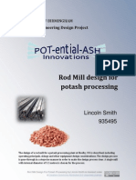 Chemical Engineering Design Project - Potash Production - The Design of a Rod Mill