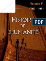 Histoire de l'Humanite, Volume V_ 1492-1789 - Collectif