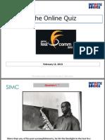The Online Quiz | Fest O Comm 2013 | SIMC Pune