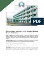 Intervenciones realizadas en el Hospital Infantil Robert Reid Cabral