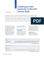 Create Your Own Shortcuts in the Self Service Desk