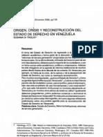 Origen,Crisis y Reconstruccion Dl Edo. Derecho en Ven_Susana Di Trolio