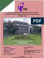 Information Brochure-2013 Entrance Test