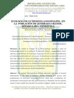 Ecología de Lutzomyia longipalpis, en la población de Quebrada Grande, estado Lara, Venezuela