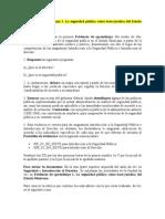 Evidencia de aprendizaje 1. La seguridad pública cómo base jurídica del Estado Mexicano