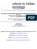 Das - Time, Self, And Community - Features of the Sikh Militant Discourse