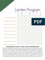 2013 Personal Lenten Program Chart - Blank - JOYfilledfamily
