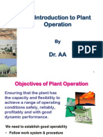 1.1 Introduction to Plant Operation