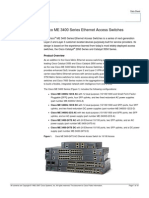 Cisco ME 3400 Series Ethernet Access Switches
