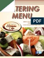 2013 Catering Menu