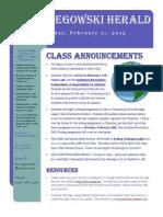 newsletter 2-11-2013