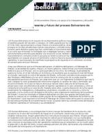 Diez Tesis Sobre El Presente y Futuro Del Proceso Bolivariano de Venezuela, Carla Ferreira y Mathias Seibel, 10-02-13