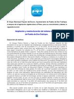 Moción sobre la ampliación y reestructuración del sistema educativo de Puebla de Don Fadrique.