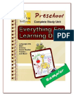 Everything for Learning Drills Preschool Study Unit Sampler