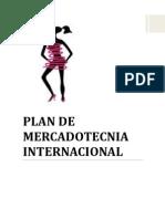 Plan de Mercadotecnia Internacional