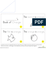 Colors Book of Orange Preschool Kindergarten