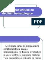 Ingrijirea Pacientului Cu Afectiuni Hematologice
