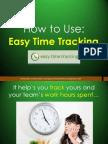 How to Use EasyTimeTrack