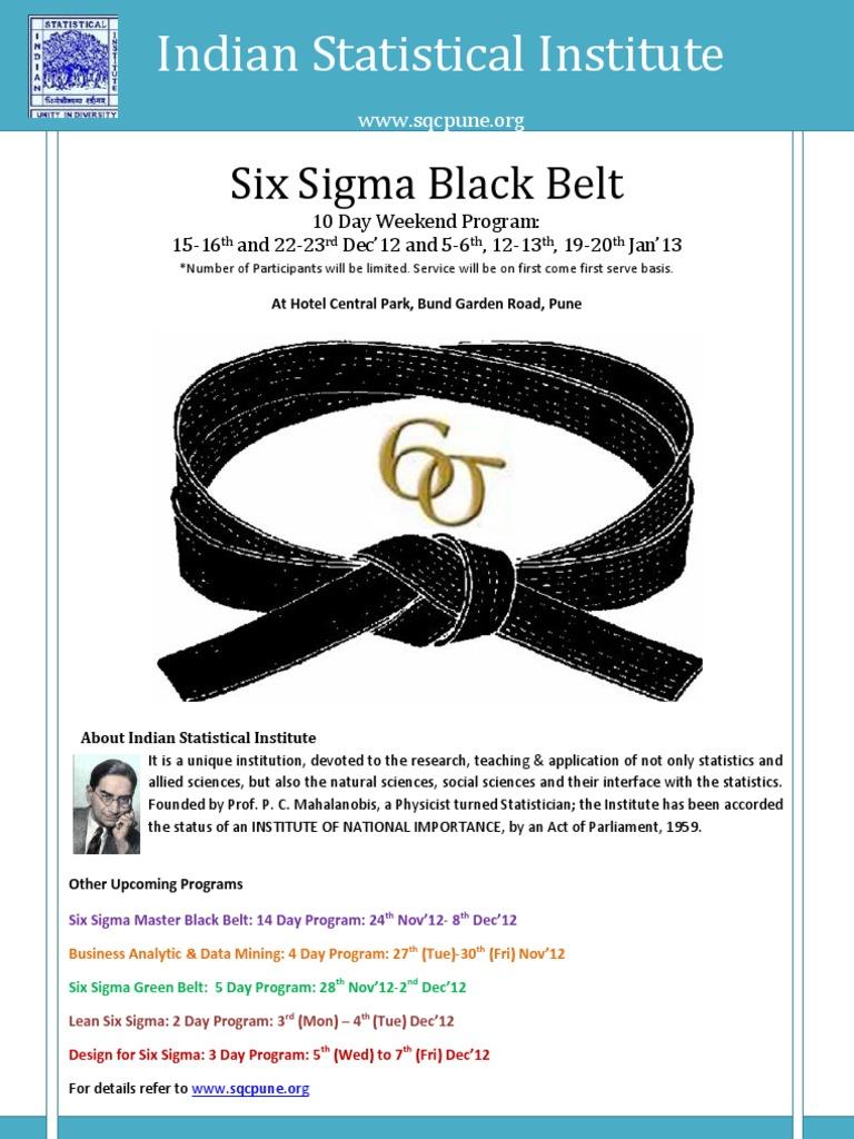 03 Six Sigma Black Belt Dec12 Jan13 Six Sigma Business