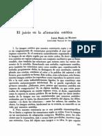 Jacques de Mahieu El Juicio en La Afirmacion Estetica