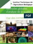 Méthodes globales d'analyse de la qualité