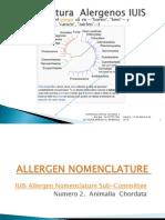 Allergen Nomenclature  Animalia  Chordata