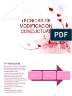 Tecnicas de Modificacion Conductual