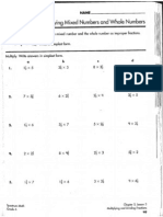 Mult. Mixed Frac Worksheet