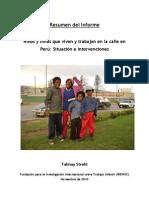 Informe Ninos de La Calle