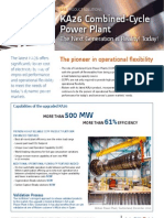 Ka26 Combined Cycle Gas Power Plant Upgrade