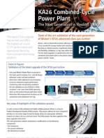 Ka26 Combined Cycle Gas Power Plant Upgrade Validation