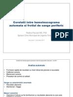 Corelatii Intre Hemoleucograma Automata Si Frotiul de Sange