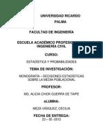 Monografia - Decisiones Estadisticas Sobre Media Poblacional
