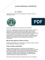 Comparativa practica Starbucks y Café Mi Viejo Molino