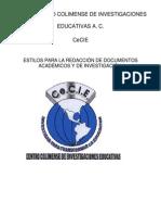 ESTILOS PARA LA REDACCIÓN DE DOCUMENTOS EN EL CeCIE