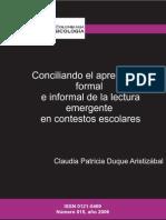 Conciliando El Aprendizaje Formal e Info - Duque AristizA!Bal, Claudia Patricia(Aut