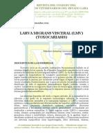 Larva Migrans Viceral - Toxocariosis. Una Vision Integral