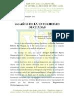 100 años de la enfermedad de Chagas