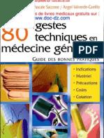 80 gestes téchniques en médecine