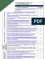 BTB Action Plan 2012 Progress Report